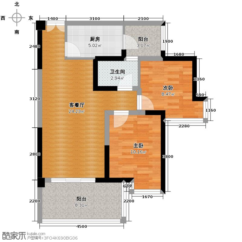 宏达世纪锦城78.00㎡D4单卫户型10室