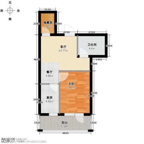 格林馨港湾1室1厅1卫0厨56.00㎡户型图