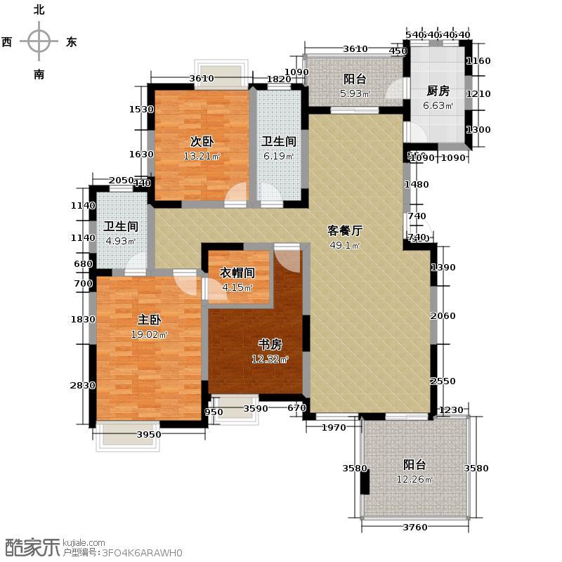 早安林�163.75㎡早安林庄12号楼C2户型10室