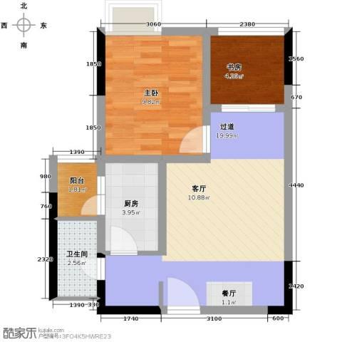 大鼎第一时间2室0厅1卫1厨62.00㎡户型图