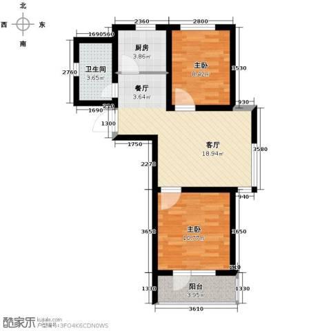 汇水湾2室2厅1卫0厨70.00㎡户型图