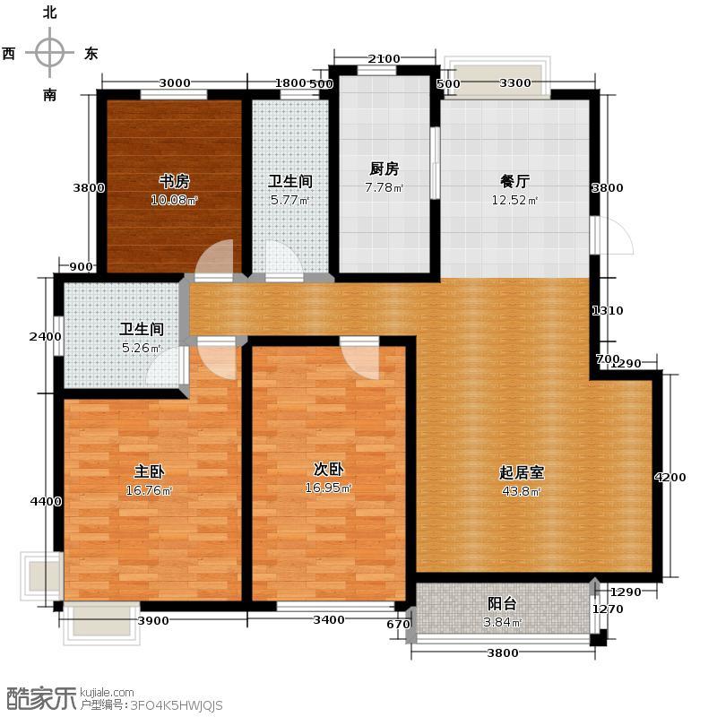 心泊馨城139.95㎡s3户型3室2厅2卫