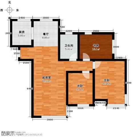 松江运河城3室2厅1卫0厨122.00㎡户型图