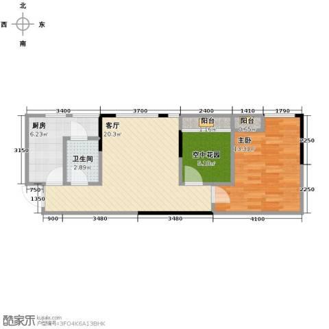 北城国际中心1室1厅1卫1厨70.00㎡户型图