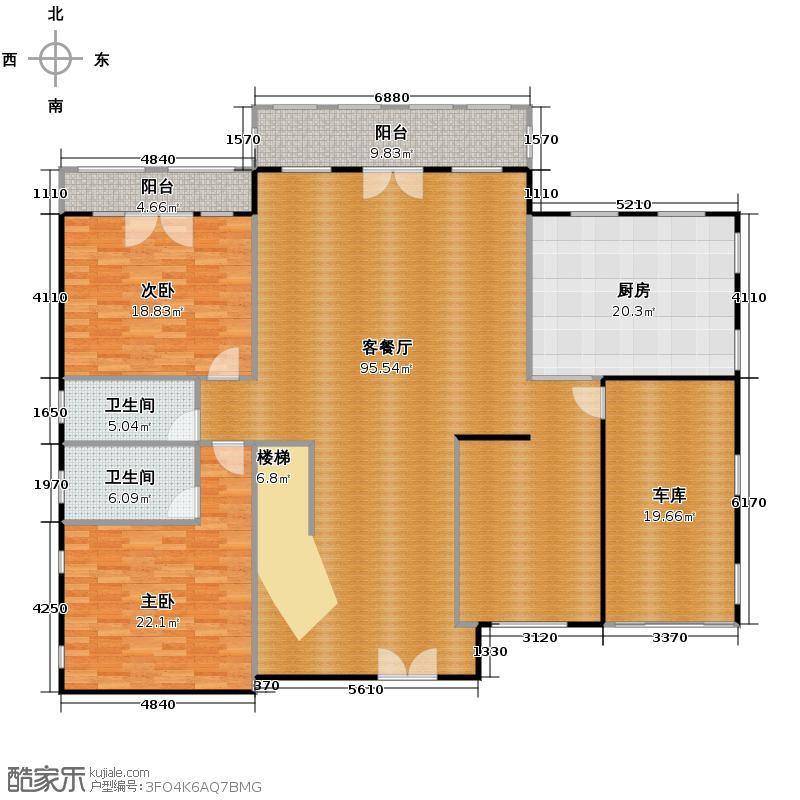 天恒・半山世家216.65㎡F首层平面图户型7室4厅5卫
