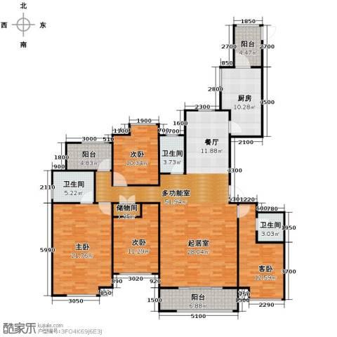 铂悦山4室2厅3卫0厨178.00㎡户型图