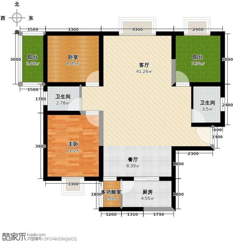 高新逸品113.80㎡1号楼A/B户型10室