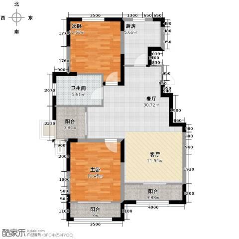 心泊馨城2室2厅1卫0厨106.00㎡户型图