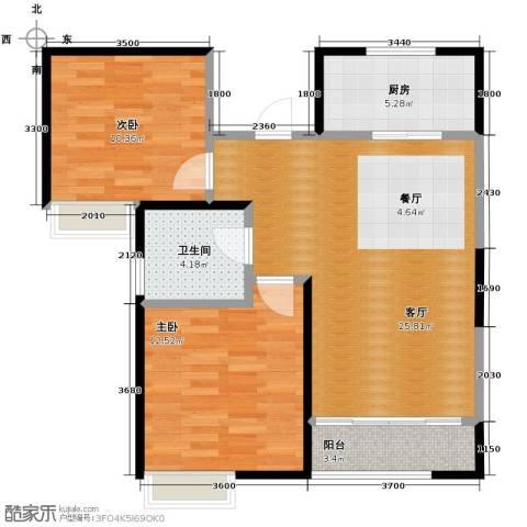 南益名士华庭2室2厅1卫0厨93.00㎡户型图
