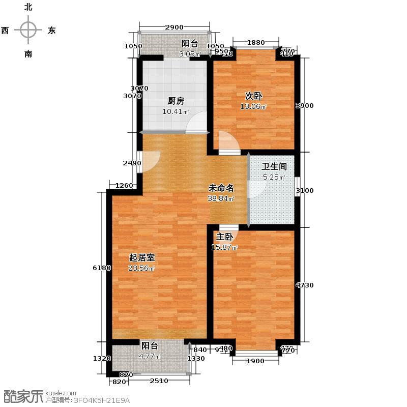 小镇西西里93.29㎡一期b3户型10室