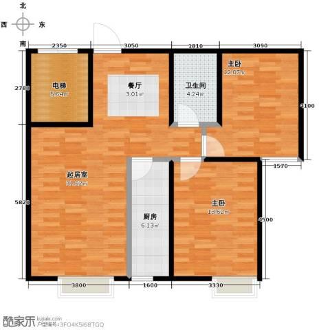 天和林溪2室2厅1卫0厨93.00㎡户型图