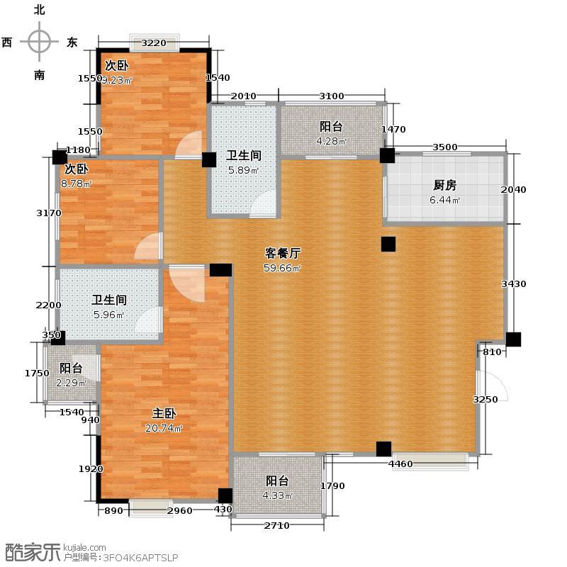 祥生柏景湾158.24㎡D户型3室2厅2卫