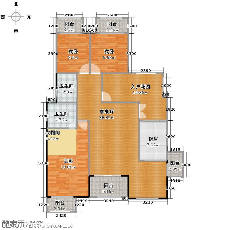 江润地中海岸126.34㎡洋房I户型10室
