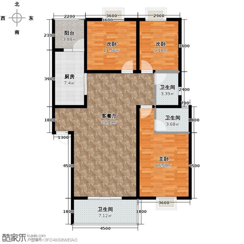润雅宜园118.74㎡2011年1月一期一批1次六栋b户型3室2厅2卫
