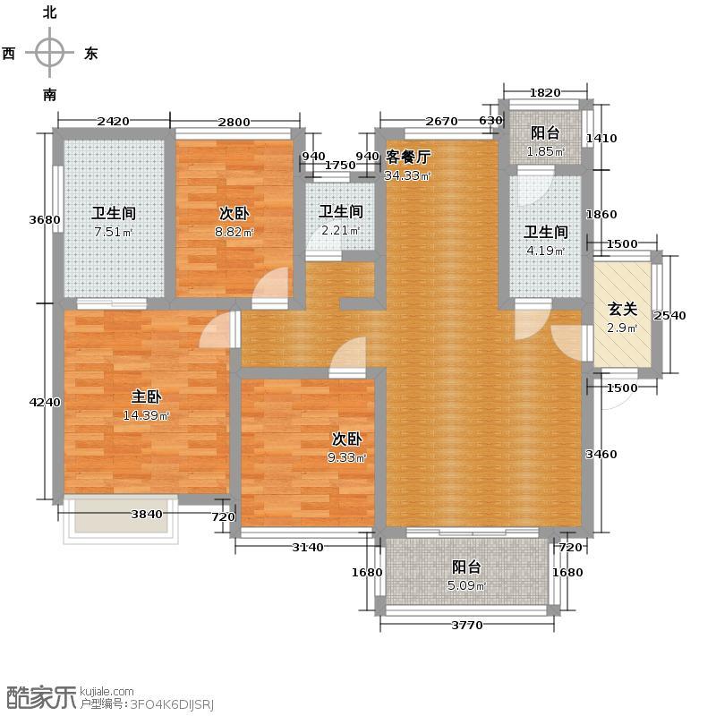 航天云海台105.92㎡户型10室