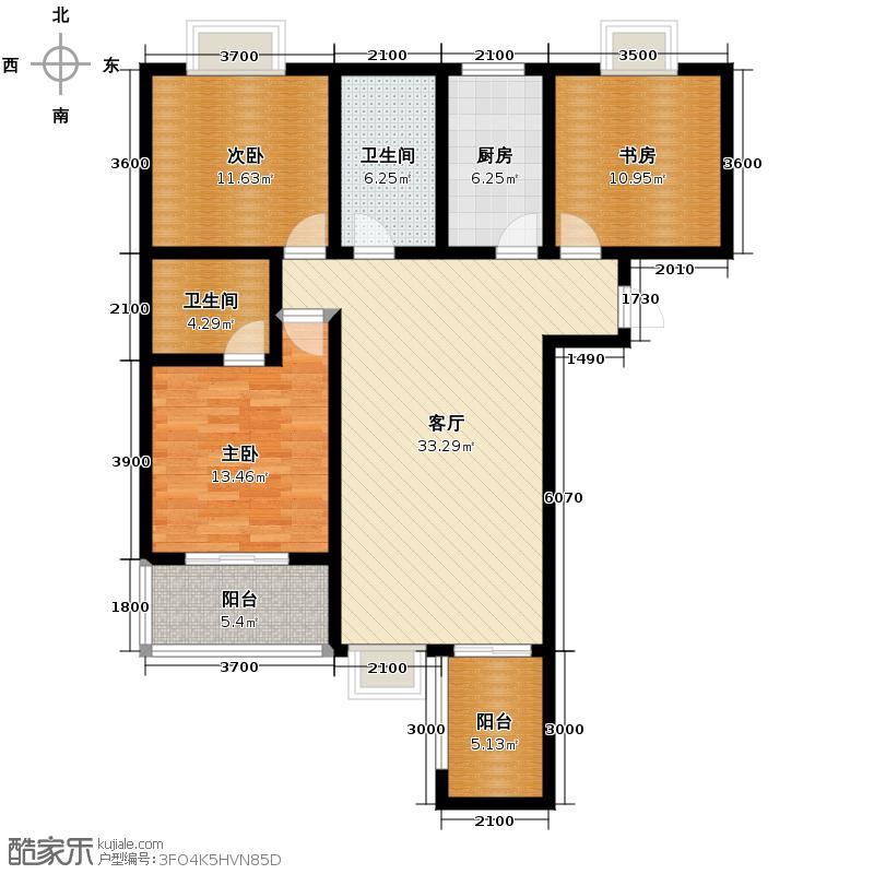 观唐盛景139.44㎡2号楼A同B户型3室1厅2卫1厨