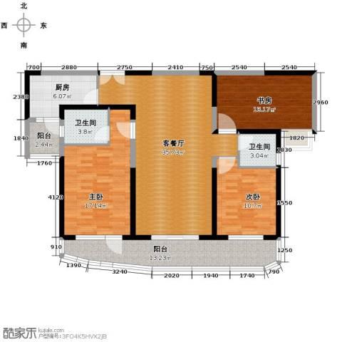 成都大魔方3室2厅2卫0厨141.00㎡户型图