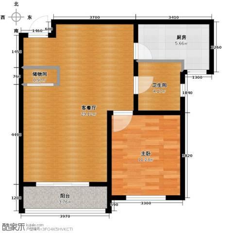 荣馨园1室2厅1卫0厨80.00㎡户型图