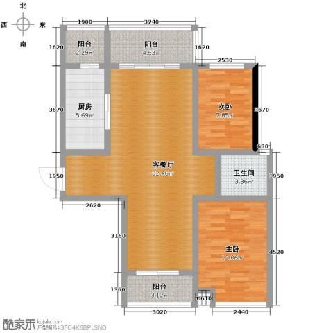 长江峰景115.00㎡户型图