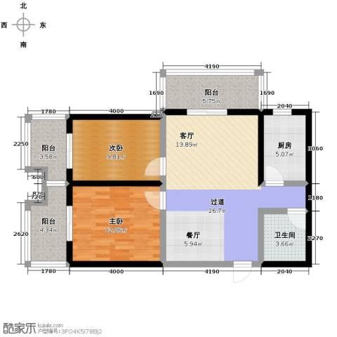 宝枫佳苑2室0厅1卫1厨103.00㎡户型图