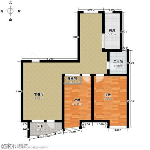 经纬城市绿洲滨海2室2厅1卫0厨119.00㎡户型图