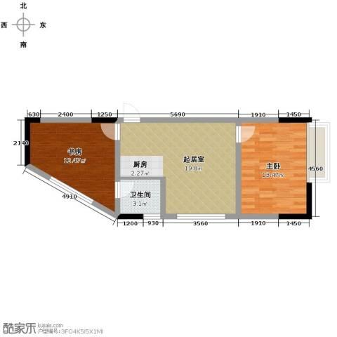 融汇新时代2室0厅1卫0厨56.00㎡户型图