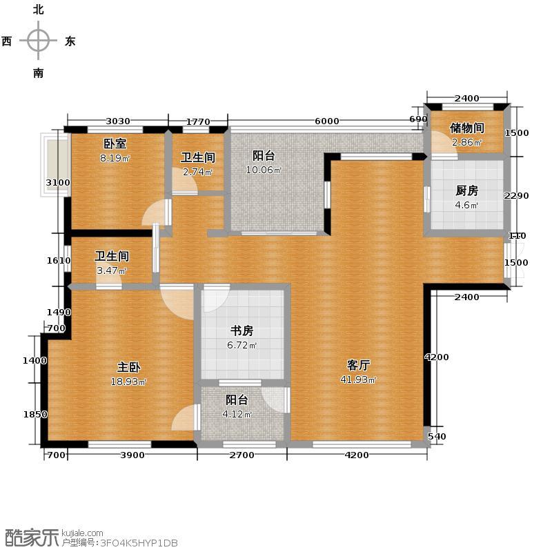 融汇温泉城101.00㎡该仅限5号楼5、10、15、20、25层楼户型2室1厅2卫1厨