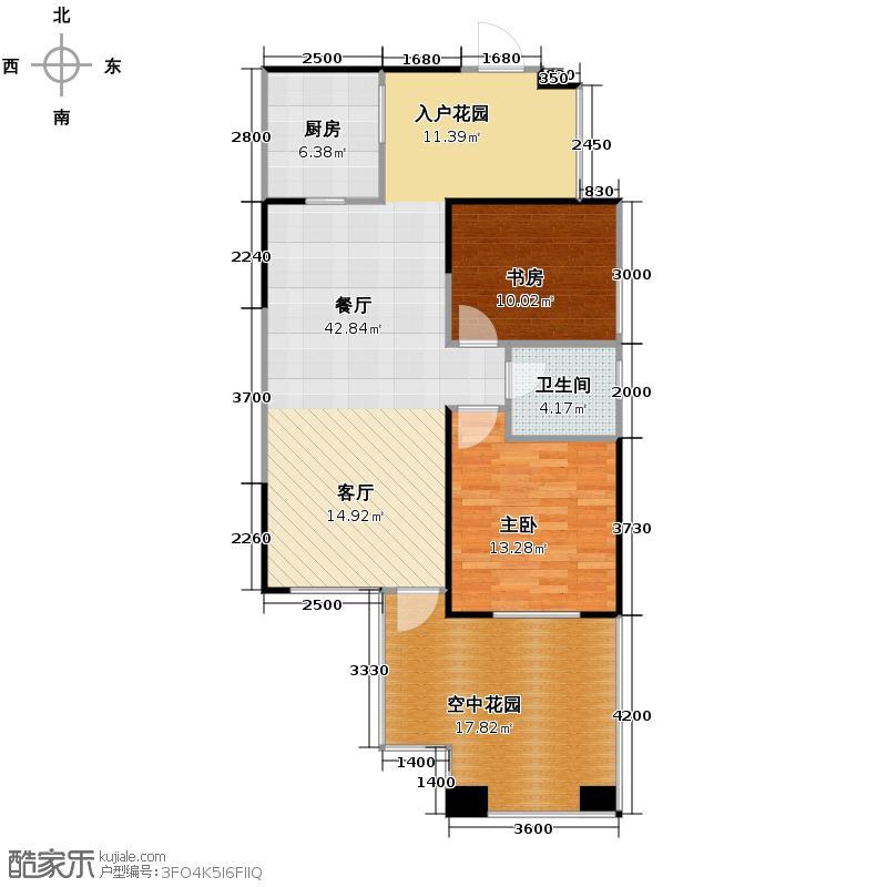 南湖国际社区89.00㎡6期镜湖H8奇数层户型2室2厅1卫