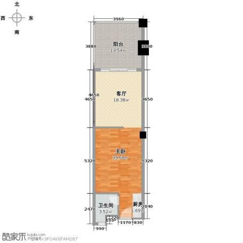 国光滨海花园79.00㎡户型图