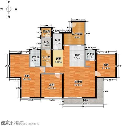 长江楚韵3室2厅2卫0厨174.00㎡户型图