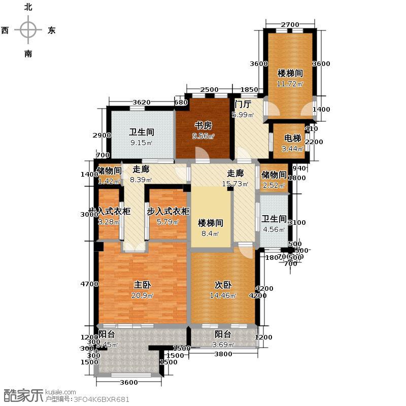 万科良渚文化村堂前280.00㎡A2-2户型3室3厅2卫