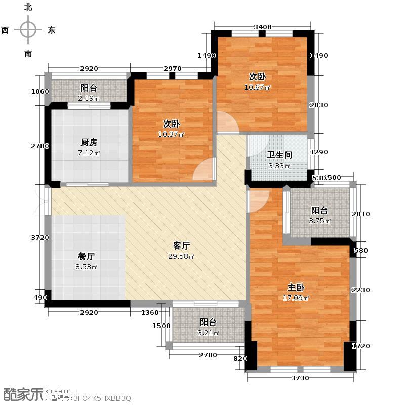 山水誉峰113.00㎡6栋G户型10室