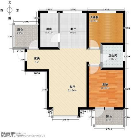 金隅・观澜时代2室2厅1卫0厨89.00㎡户型图