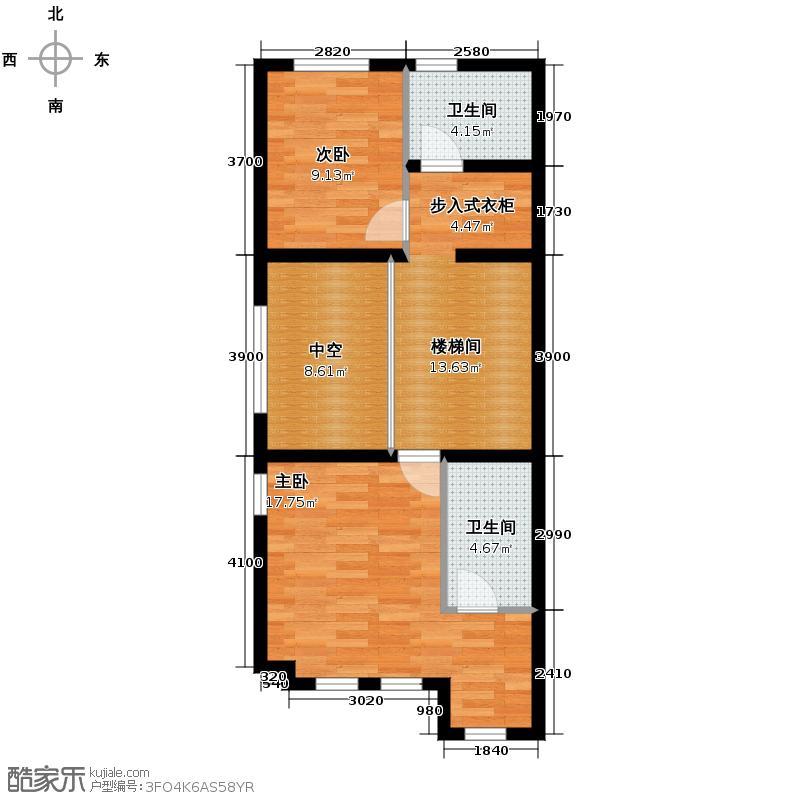 首创玲珑墅181.00㎡别墅ED二层户型10室