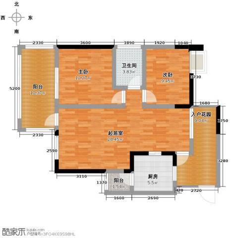 礼顿山1号2室0厅1卫1厨89.00㎡户型图