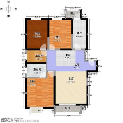 高科尚都3室2厅1卫0厨136.00㎡户型图