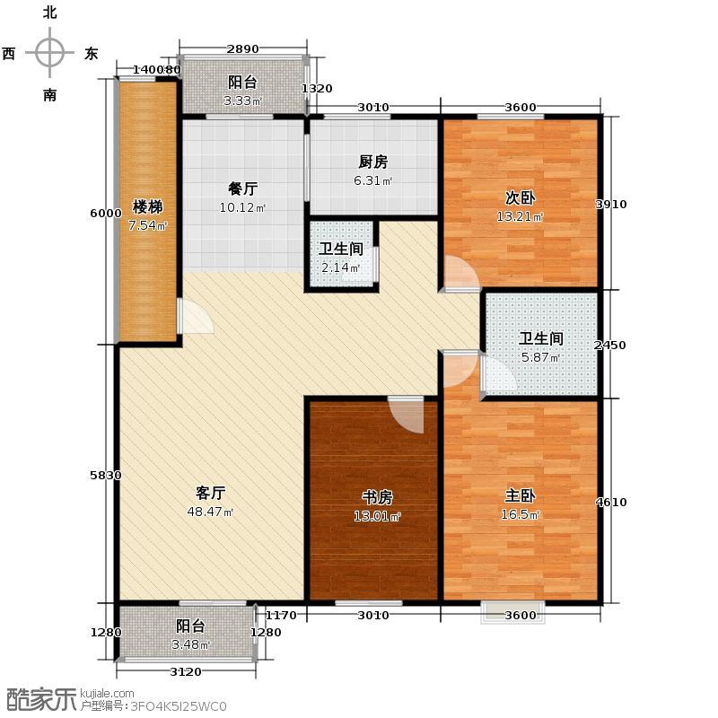 格兰小镇133.66㎡D1户型3室2厅2卫