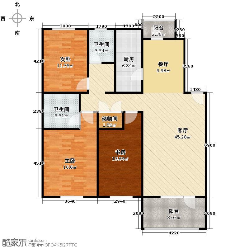 华韵欧风博文苑123.67㎡A1-1面积13988m2户型10室