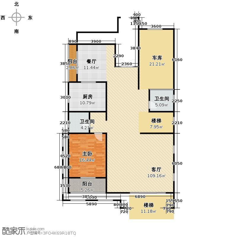 清河湾162.59㎡1-A一层平面图户型10室