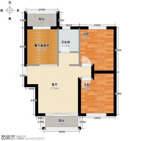 金源名府2室2厅1卫0厨82.00㎡户型图