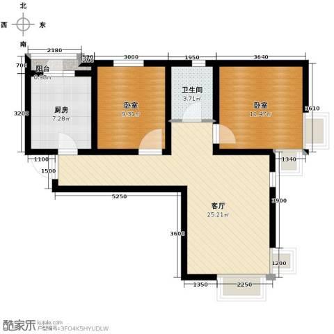 滨海智谛山2室2厅1卫0厨94.00㎡户型图