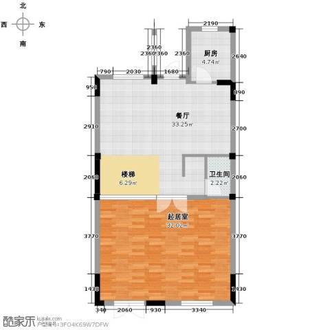 中惠团泊湾99.00㎡户型图