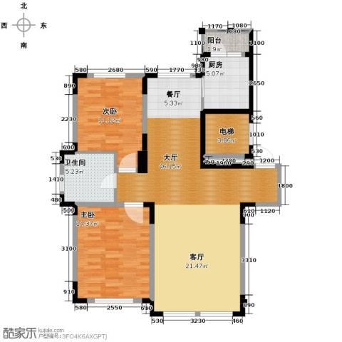 观澜湖别墅2室2厅1卫0厨110.00㎡户型图