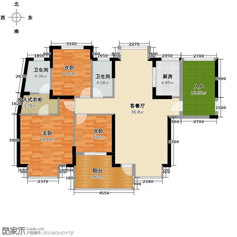 保利心语105.00㎡房型户型10室