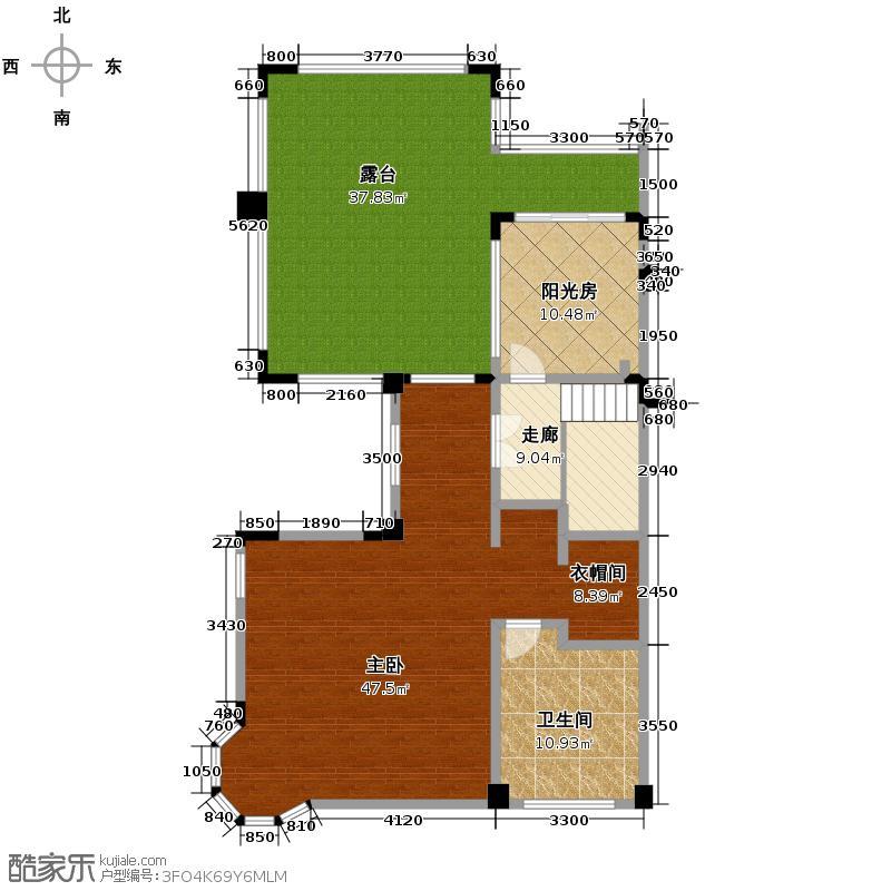 中铁奥维尔127.46㎡A型三层户型10室