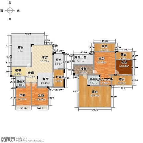 御城华府4室0厅2卫1厨227.72㎡户型图