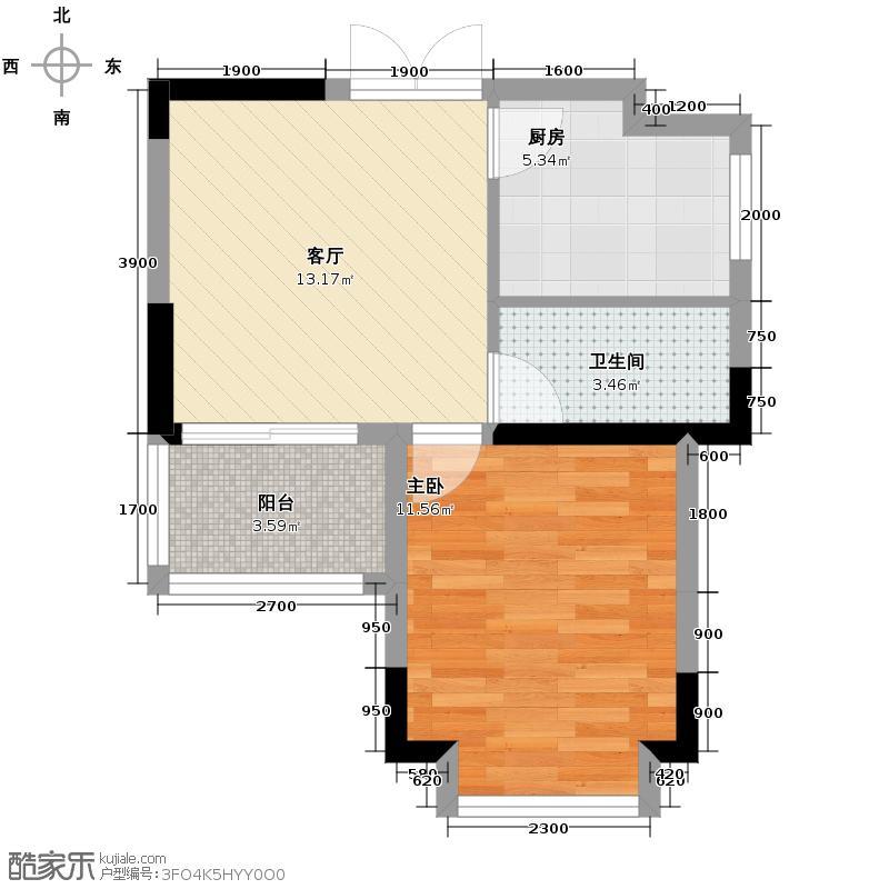 斌鑫西城绿锦38.94㎡房型户型10室
