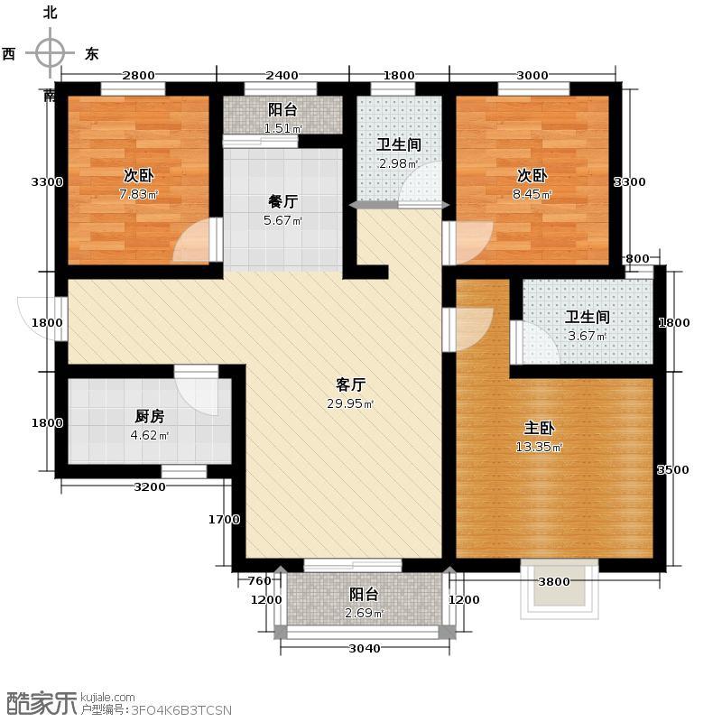 香缤国际城88.45㎡户型10室