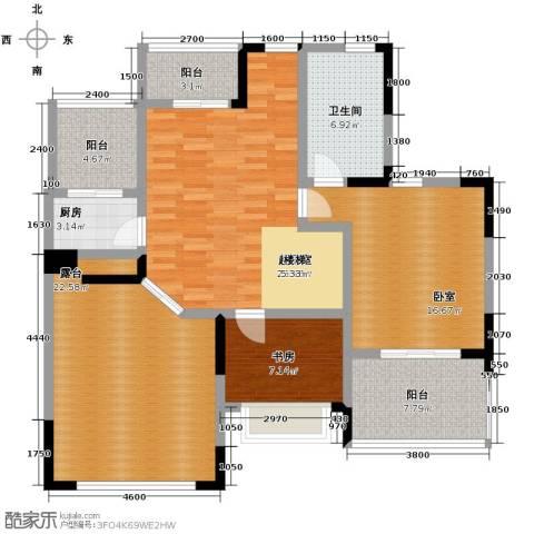 天一城1室0厅1卫1厨142.00㎡户型图