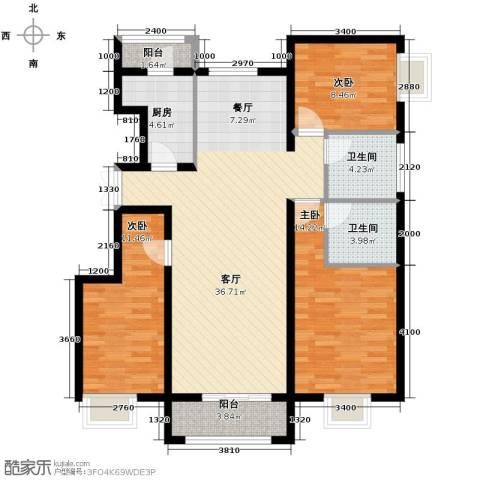 金润凤凰洲3室2厅2卫0厨122.00㎡户型图